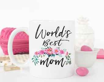 World's Best Mom Mug, Gift for Mom, Pregnancy Reveal, Pregnancy Announcement, Baby Shower Gift, Mom gift, Mother's Day Gift, mom Mug