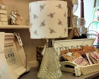Bee Drum Lampshade - handmade lamp shades in 3 sizes!