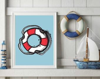 Bathroom Print, Nautical Print, Wall Art, Nautical Wall Art, Bathroom Wall Art, Nautical, Modern Wall Art, Bathroom Art, Wall Art Print