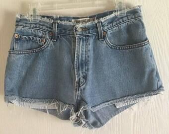 LEVI'S Distressed Denim Shorts