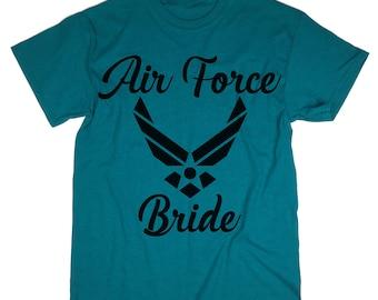 Air Force Bride T-shirt. Air Force Bride Shirt. Tank Top. Bridesmaid Shirts. Bachelorette Party Shirts. Bride Gift. Bridesmaid Gift.