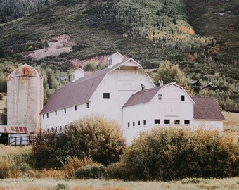 White Barn, Barn Photography, Rustic Home Decor, Farmhouse Decor, Fine Art Photography, Country Decor, Country Barn, Park City Utah, Barn