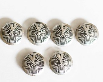 Vintage Mexican Silver Toned Buttons