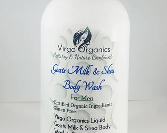 Organic Liquid Goats Milk & Shea Body Wash / Gentle and Soft