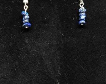 Dangle Earrings made with Sodalite