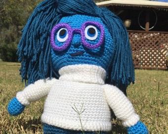 Handmade crochet Sad doll