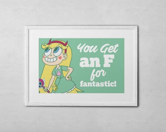 Star vs The Forces of Evil Star Quote 11x17 Art Print