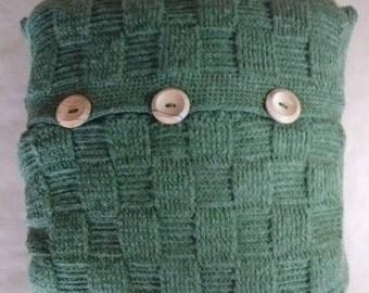 OLIVE CUSHION - free UK shipping - woven basketweave cushion
