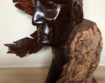 Large Ironwood Native American Carving