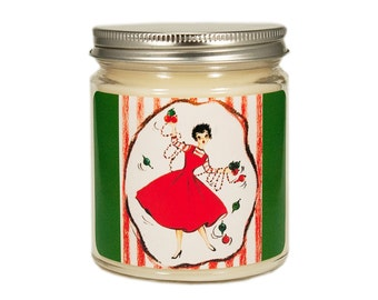 Christmas Candle, Scented Candle, Holiday Candle, Vintage Candle, Container Candle, Soy Candle, Vintage Christmas Candle, Holiday Decor