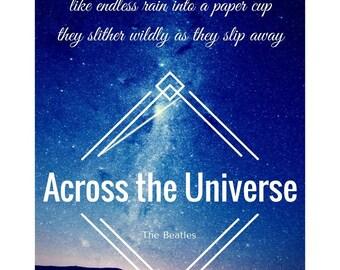 Across The Universe , The Beatles Lyric Printable
