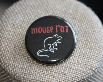 Mouse Rat Button, Mouse Rat Pin, Parks and Recreation Button, Parks and Rec Pin