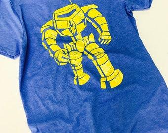 Robot T Shirt Heather Royal Blue Inspired By Sheldon Big Bang Theory Tee