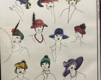 10 Fashion Hats machine embroidery designs in three sizes on CDROM by Inspira