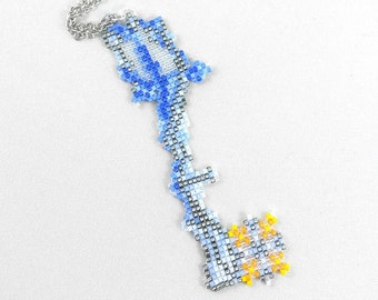 Diamond Dust Keyblade Necklace - Kingdom Hearts Necklace Kingdom Hearts Jewelry Pixel Necklace Video Game Necklace 8bit Jewelry Geeky Gifts