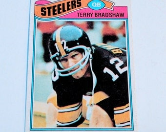 Vintage 1977 Topps Terry Bradshaw Pittsburgh Steelers Gd-Vg Rare