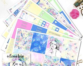 AWAKENING Planner Stickers/ Planner Stickers for Erin Condren Lifeplanner/Spring Planner Stickers/Pastel Spring Sticker kit