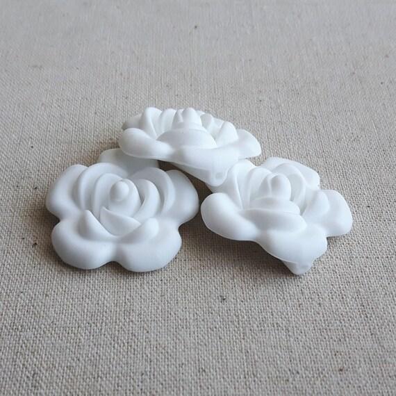 Basket Weaving Supplies Winnipeg : Pcs white big flower beads silicone flowers