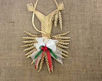 Welsh border fan - Welsh gift - Corn dolly - St David's Day - House blessing - Good luck - Traditional