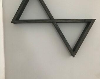 Wooden Double Triangle Shelf | Floating Shelf