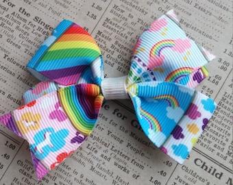 Unicorn Hair Bow, rainbow hair bows, girls hair bows, party favors