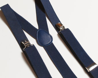 Navy Blue suspenders for adult Wedding suspenders Mens suspenders Groomsmen suspenders Mens braces Wedding outfit Adult suspenders