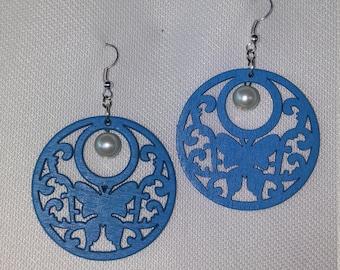 Butterfly wood earrings