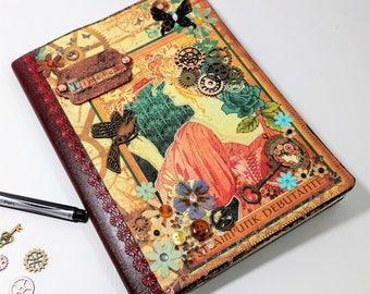 Vintage Journal, Victorian Steampunk, Steampunk Journal, Traveler's Notebook, Writing Journal, Unique Journals, Graphic 45, Gift for Writers