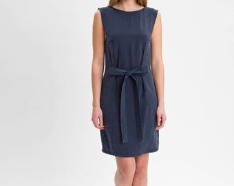 MILA Open Back Navy Skater Dress - 2 looks in 1