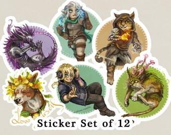 Sticker Set of 12