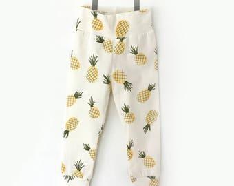 ANANAS leggings for baby and toodler - cute leggings- yoga leggings - fruit leggings