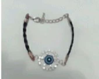 Blue bracelet with Rhinestones