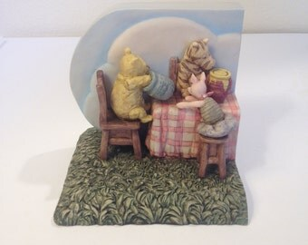 SALE...Classic Winnie the Pooh, Resin Bookend, Disney Designed by Charpente, China