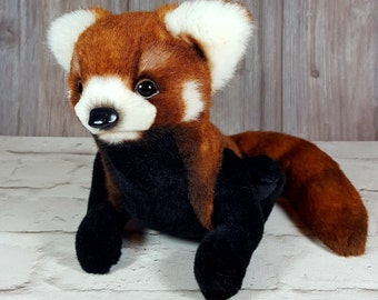 Soft toy handmade Teddy Red Panda Laki