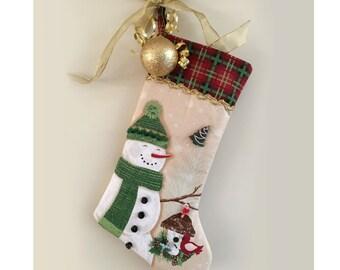 DIY Stocking - Snowman and Santa Christmas stocking fabric