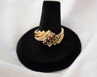 14K GF Ring With Multicolored Stones