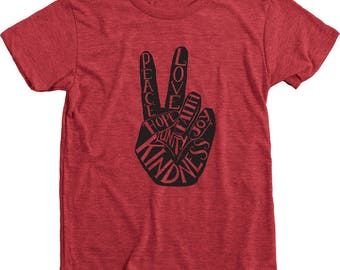 Peace Love Unity Faith Hope Joy Kindness Kids T-Shirt