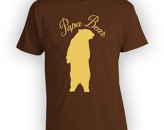 Papa Bear Shirt Funny Dad T-Shirt Fathers Day Gifts Daddy Gift Ideas For Him Fathers Day T Shirt Clothing Mens Tshirt Bear Tee PI-48