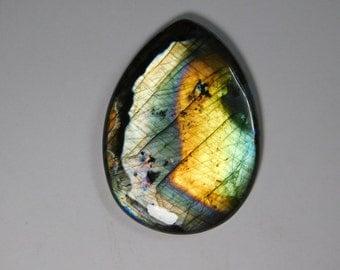 Spectrolite Labradorite loose gemstone,Multi Flash Labradorite Gemstone,Natural Labradorite Cabochon, Labradorite loose stone 298Cts. #576N
