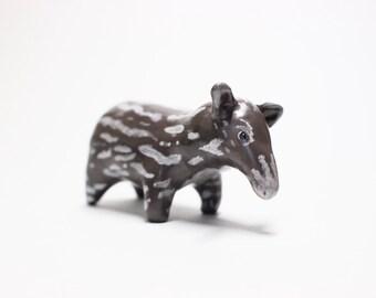 Tapir Totem Polymer Clay Figure | Spirit Animal Totem Polymer Clay Tapir Figurine Animal Sculpture Miniature