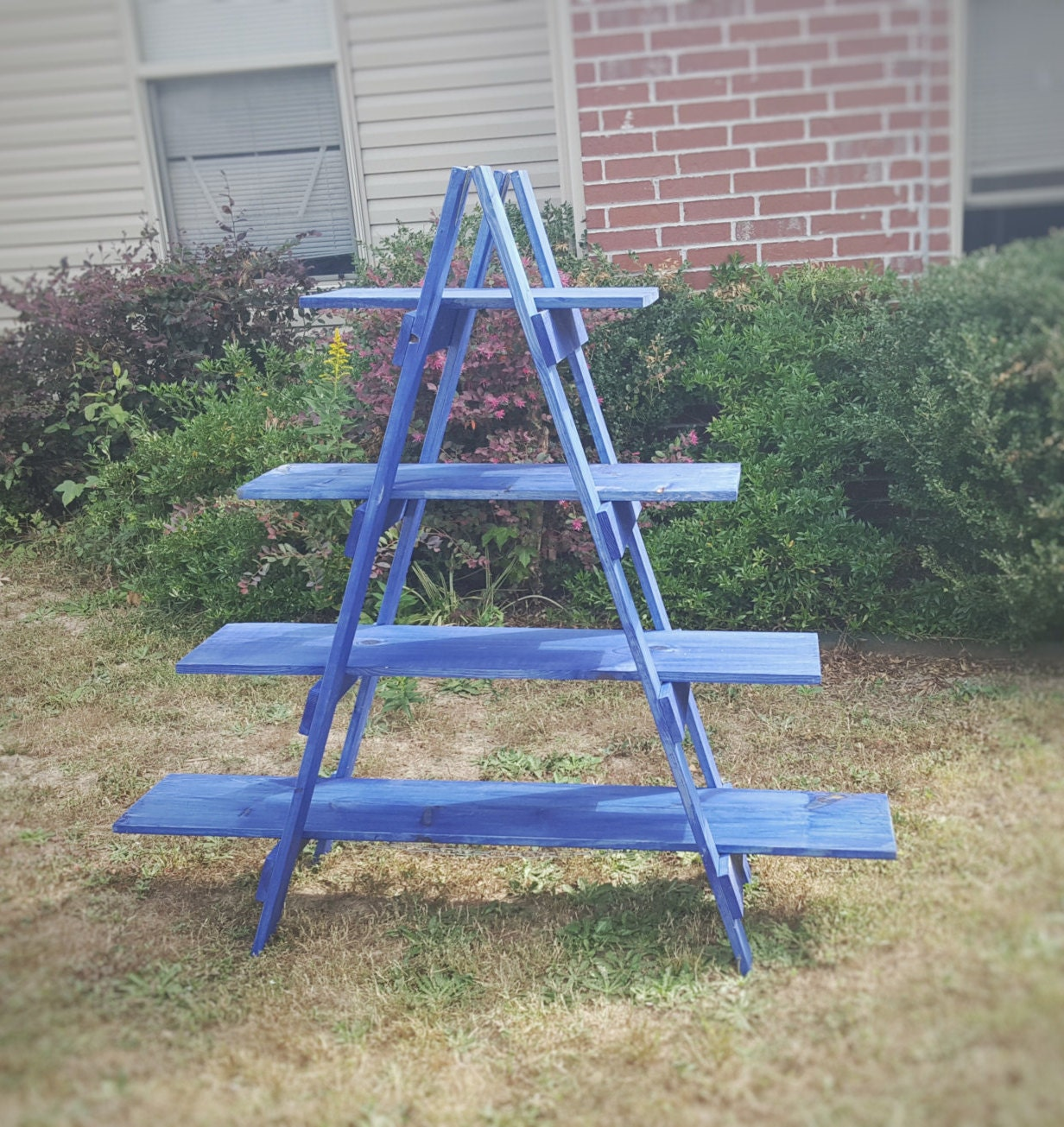 5 Foot Wooden Ladder Christmas Village Display Ladder
