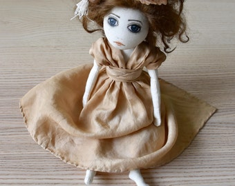 Hand-made art Doll OOAK Textile art Handmade Soft sculpture textile doll