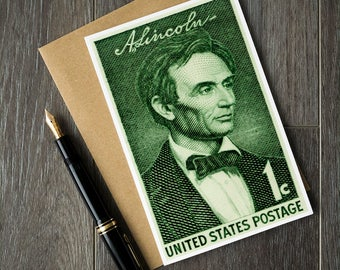 Lincoln, President Lincoln, President's Day card, US history card, history teacher gift, US presidents, Abraham Lincoln art, Lincoln posters