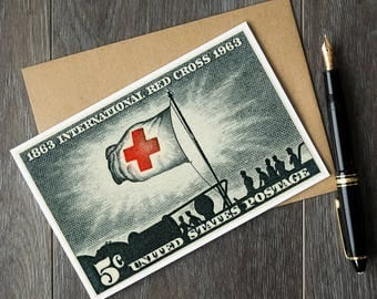 International Red Cross cards, Red Cross art cards, Red Cross birthday card, Red Cross retirement card, Red Cross gifts, Red Cross volunteer