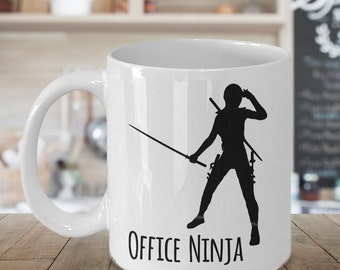 Admin Assistant Gift - Office Ninja Mug Coffee Mug Ceramic Tea Cup - Administrative Assistant Gift - Office Manager Gift - Secretary Gift