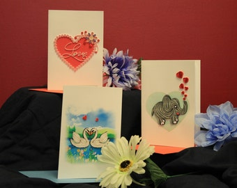 Parade of Love Quilled Cards