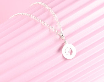 925 Silver chain with baby girl, baby boy trailer, birth, baptism