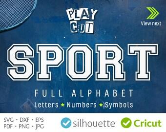 SPORT Monogram Svg Cricut Font svg Jersey Double Sport letters Cricut vinyl Alphabet Dxf Silhouette Sport Font Svg Png Heat Press Transfer