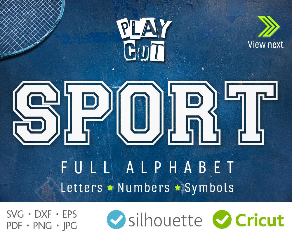 Sport Monogram Svg Cricut Font Svg Jersey Double Sport