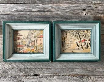 Set of 2 Vintage Mid Century Art Prints